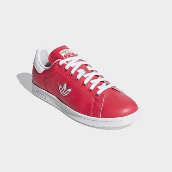 Adidas Stan Smith Leather shock Red Mens US 8.5